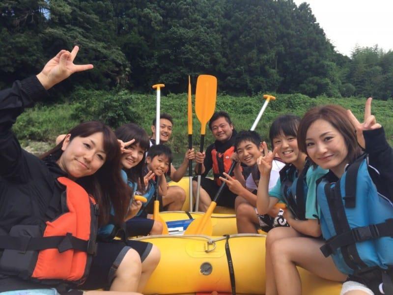 那珂川で大人気のラフティング〜♪お客様のご紹介です☆