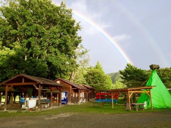 綺麗な二重の虹が出現〜(≧▽≦)!!✨