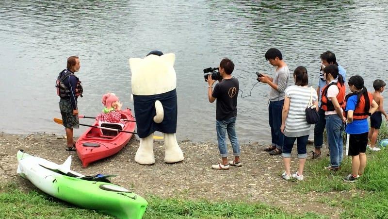 2015.0928放送「雷様剣士ダイジ」とちぎテレビ番組撮影風景